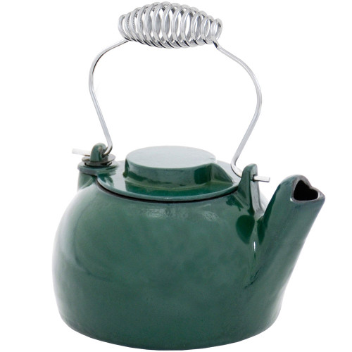 2.5 Qt Green Cast Iron Kettle