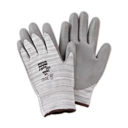 Gray Polyurethane Coated Gloves by North Safety - Single Pair