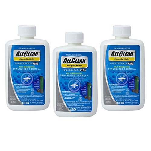 3-Pack AllClear Mosquito Mister Concentrate Plus Synergized Formula
