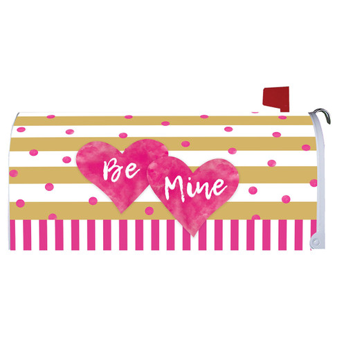 Valentines Day Mailbox Cover - Pink & Gold Hearts