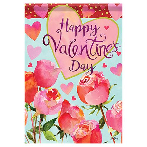Valentine Garden Flag - Valentines & Roses