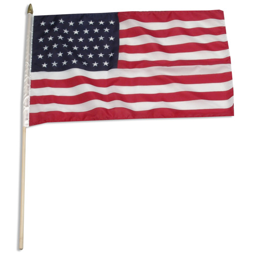 "USA 45 Star 12"" x 18"" Stick Flag"
