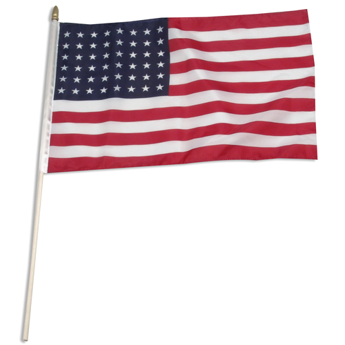 "USA 48 star 12"" x 18"" Stick Flag"