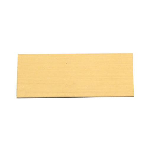 Blank Small Brass Engraving Plate - 1in x 2.5in
