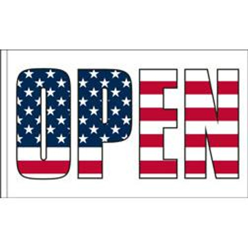 Open Flag Patriotic Design 4 - 3ft x 5ft Super Knit Polyester