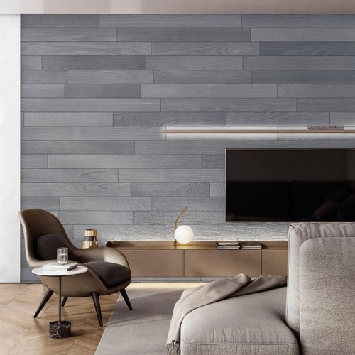 NaturaPlank Peel and Stick Wood Wall Cladding - Warm Grey