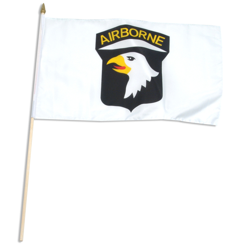 "101st Air Borne 12"" x 18"" mounted on wooden stick"