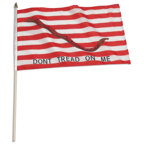 1st Navy Jack 12 x 18 inch (Don't tread on me flag)