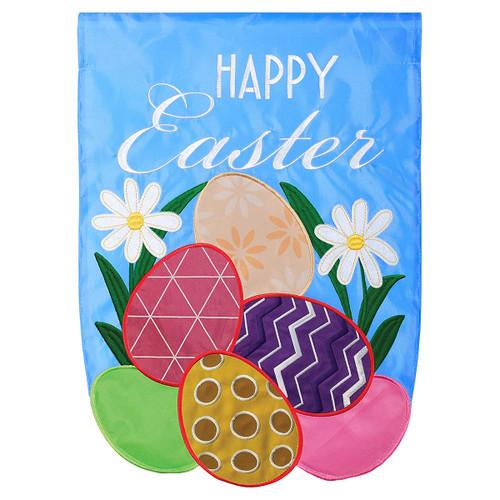 Easter Garden Flag - Happy Easter Eggs
