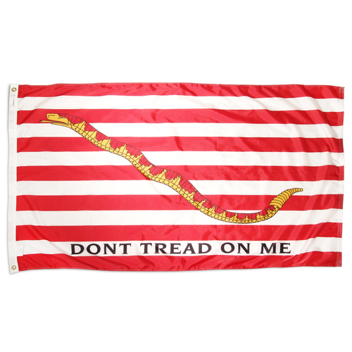1st Navy Jack Flag ( Don't tread on me flag ) 3ft x 5ft Nylon