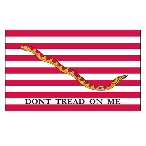 1st Navy Jack - Dont tread on me Flag - 3ft x 5ft Printed Polyester