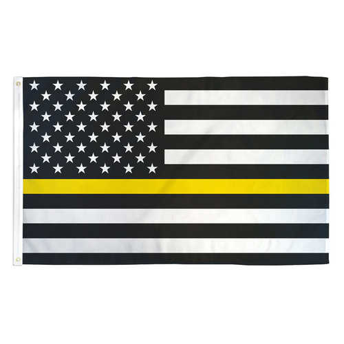 """Thin Yellow Line """"Tow Lives"""" Flag 3ft x 5ft Printed Polyester"""