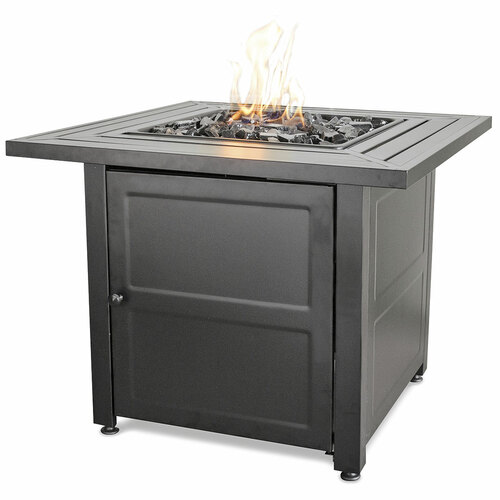 "LP Gas Outdoor Fire Pit w/ 30"" Steel Mantel"