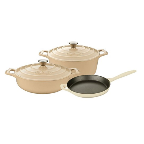 La Cuisine Pro Range 5 Piece Cast Iron Kitchen Set - Cream