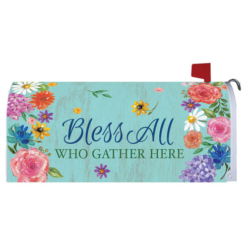 Bless and Gather Mailbox Cover