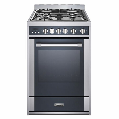"""Magic Chef - 24"""" Gas Freestanding Range Convection Oven - Stainless"""