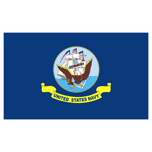 Navy 3ft x 5ft Printed Polyester Flag