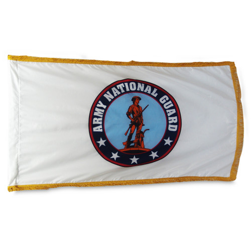 National Guard Indoor Flag 3ft X 5ft with Pole Hem and Fringe