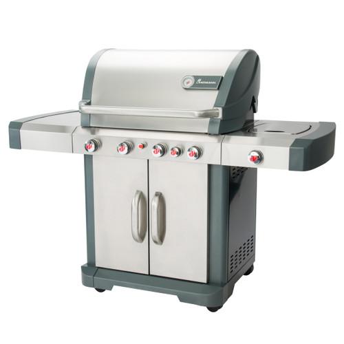 Avalon Gas BBQ Grill - Precise Temperature Control - Easy Clean - 5 Burner