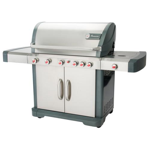 Avalon Gas BBQ Grill - Precise Temperature Control - Easy Clean - 6 Burner