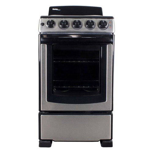 """Danby - 20"""" Electric Range w/ Coil Elements - Stainless"""