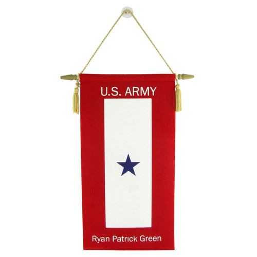 Traditional Customized Service Flag - Personalized