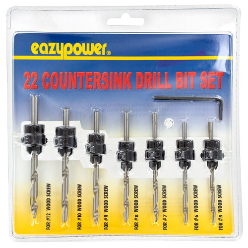 Eazypower 7 Piece Assorted Short M2 High-Speed Steel Drill Bits - 73623