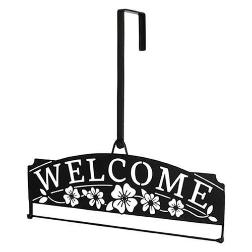 Over the Door Flag Hanger - Welcome Floral