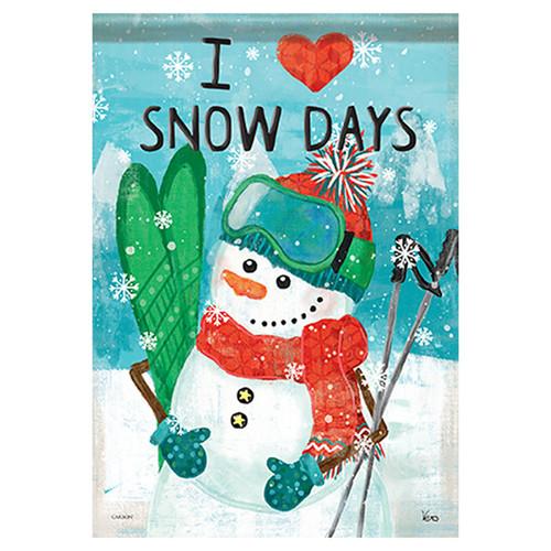 Carson Winter Garden Flag - Snow Days