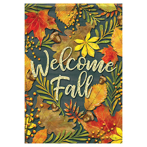 Carson Fall Garden Flag - Fall Leaves
