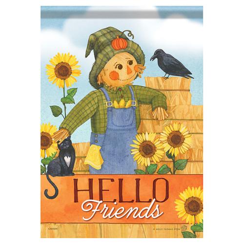 Carson Fall Garden Flag - Sweet Scarecrow