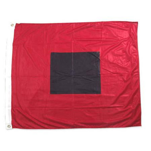 Hurricane warning flag 36in x 36in Super Knit Polyester