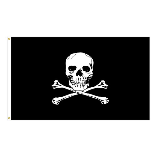Pirate - Jolly Roger - 5x8ft Nylon Flag