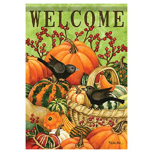 Carson Fall Garden Flag - Birds & Gourds