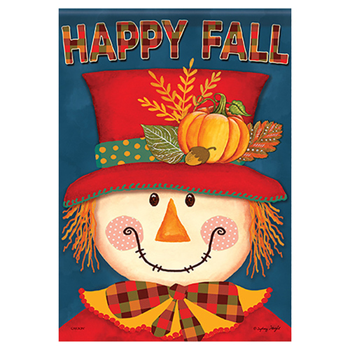 Carson Fall Garden Flag - Bright Scarecrow