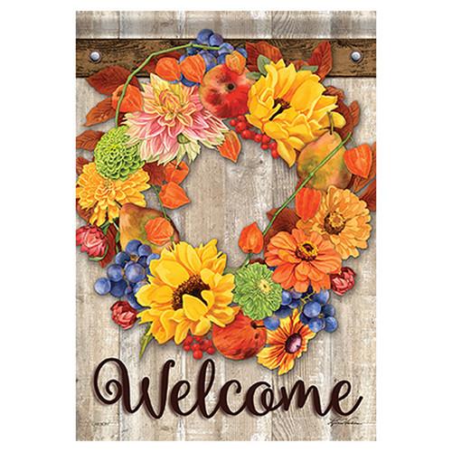 Carson Fall Garden Flag - Autumn Bounty Wreath