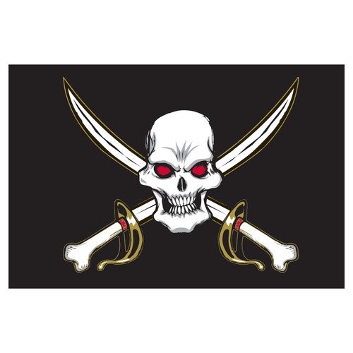 Pirate - Deaths Head - Flag 3ft x 5ft Printed Polyester