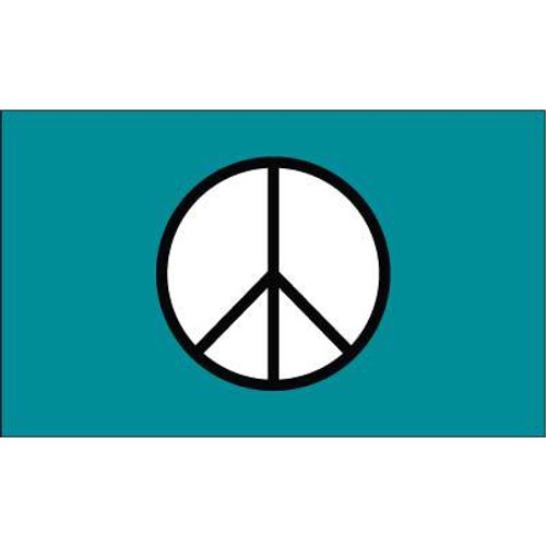 Peace Flag Green Standard 3ft x 5ft Polyester