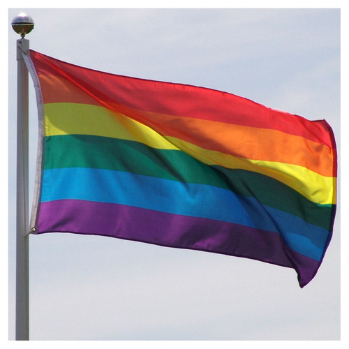 Rainbow Flag 3ft x 5ft Super Knit Poyester