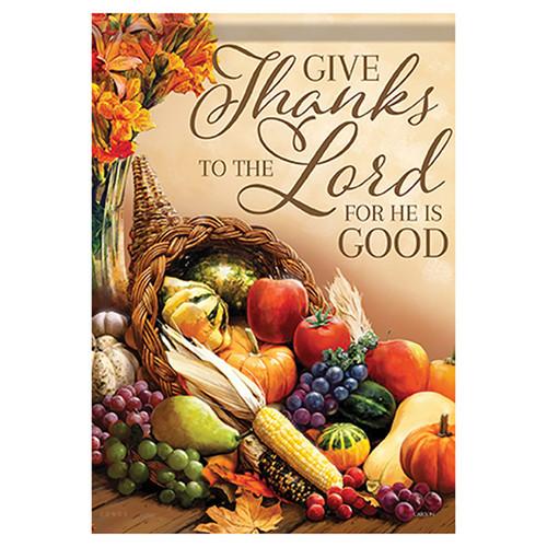 Thanksgiving Garden Flag - So Thankful