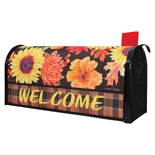 Fall Mailbox Cover - Fall Floral