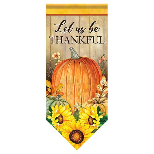 Carson Thanksgiving Long Banner Flag - Pumpkin & Sunflower Trio