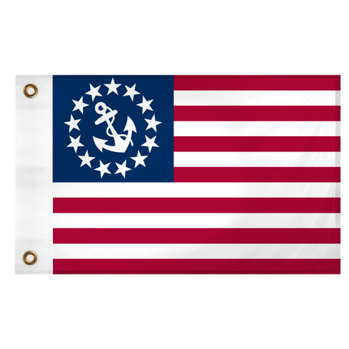 U.S. Yacht Anchor Flag 12in x 18in Super Knit Polyester Single Sided