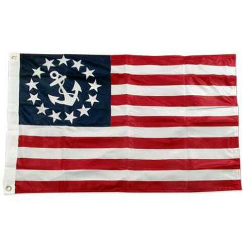 U.S. Yacht Anchor Flag 2ft x 3ft Super Knit Polyester Double Sided