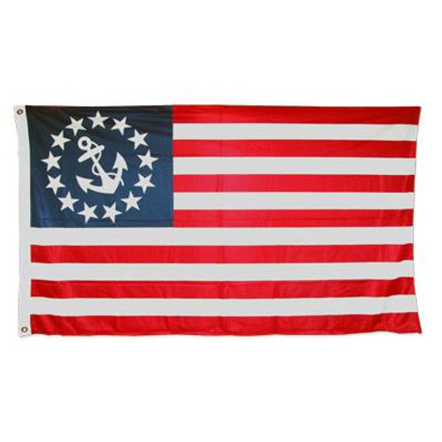 U.S. Yacht Anchor Flag 3ft x 5ft Super Knit Polyester Double Sided