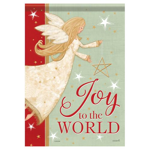 Carson Christmas Garden Flag - Angel Joy