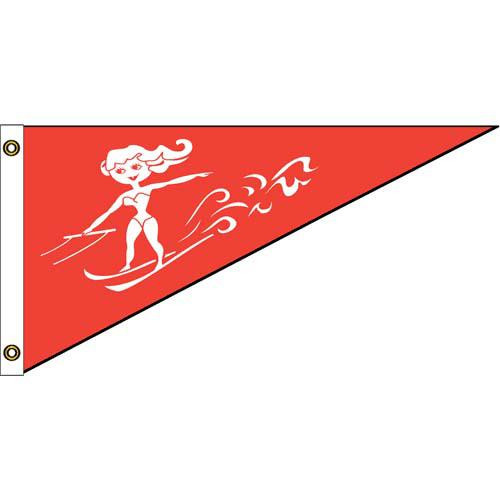 Ski Queen Nylon Bow Pennant 10in x 15in