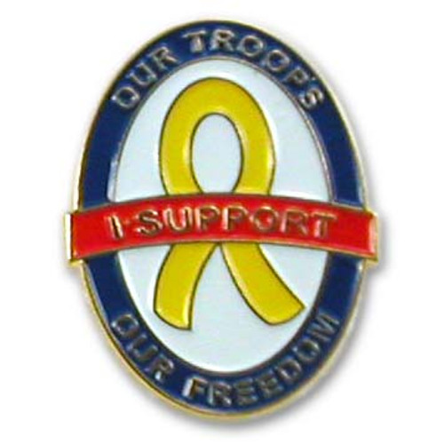I Support Our Troops Lapel Pin