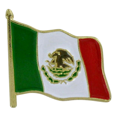 Waving Mexico Flag Lapel Pin