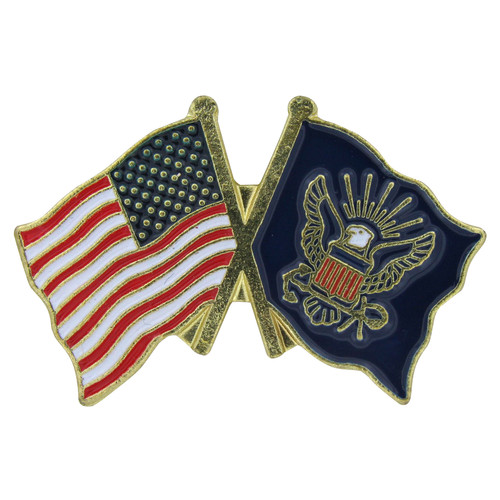 US and Navy Flag Lapel Pin